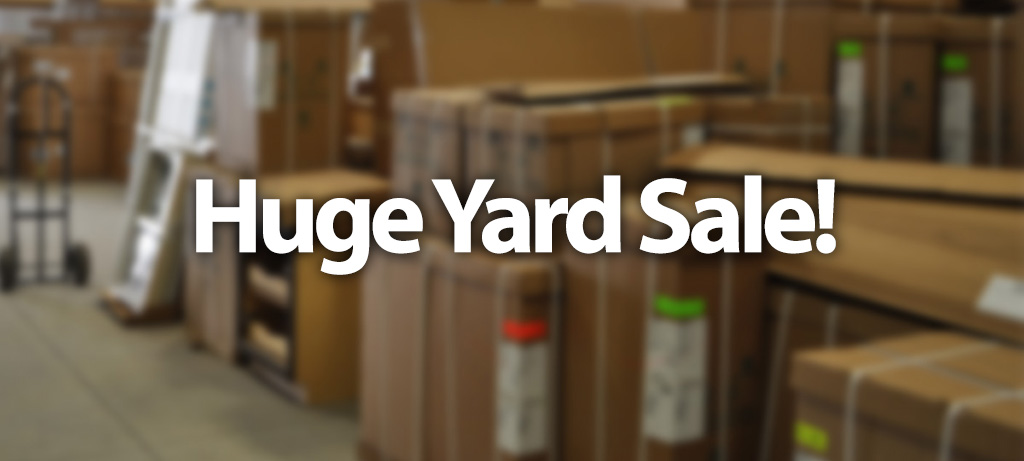 Huge Yard Sale At Our Gloucester Location Timberline