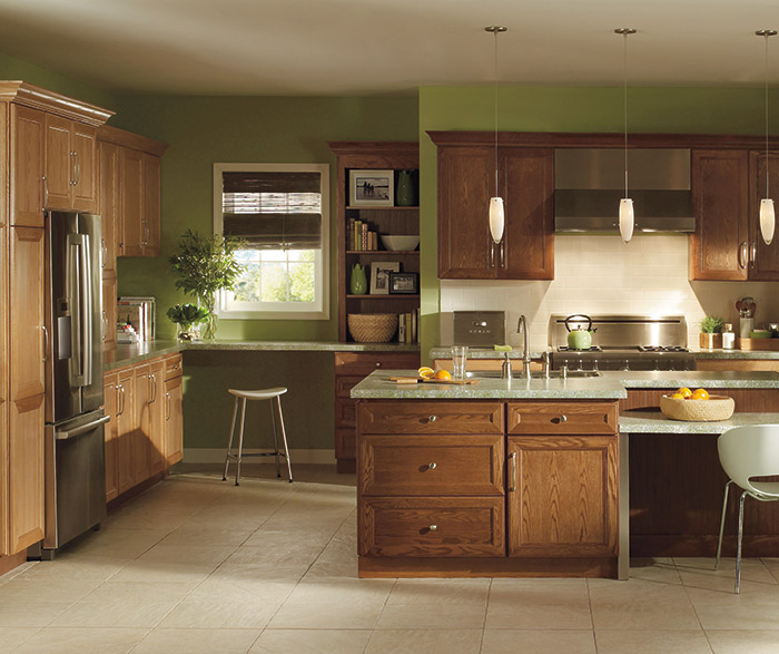 Kitchen With Oak Cabinets And Stainless Steel Appliances: Homecrest Contemporary Gallery