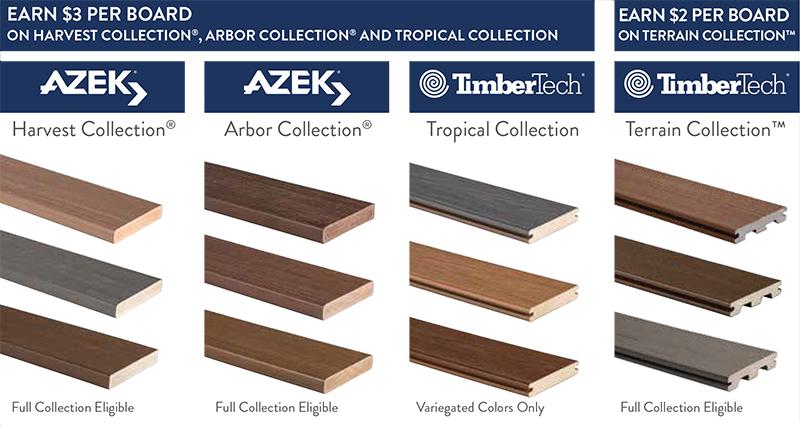 Azek Timbertech Contractor Rebate Special Timberline